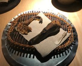 duck feast: breast brain, crispy skin & cured meats