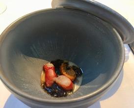 Chawanmushi, carabinero, sea urchin, truffle-soy vinaigrette