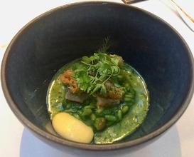 Risotto, eel, herbs
