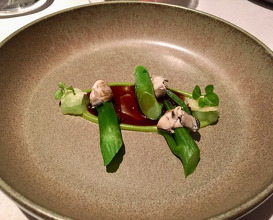 Hong Kong Gai lan with oyster sauce and lime