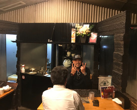 A ramen theatre in Fukuoka, dinner at Mengekijou Genei
