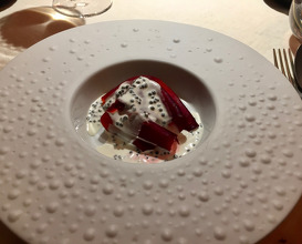 """Crapudine"" beetroot in salt crust with caviar sauce"