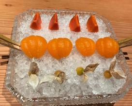Farm Fruit: Persimmons, Satsumas, and Cape Gooseberries