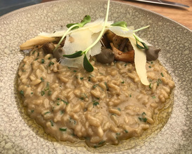 Assiette of new seasons mushroom, porcini risotto, shaved parmesan and truffle