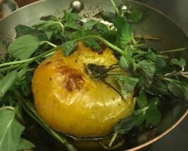 Nixtamalized tomato and sweet onion reduction