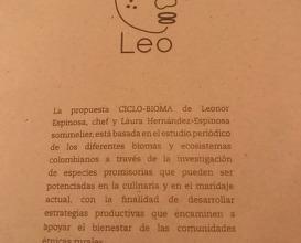 Dinner at Leo, the WB50 restaurant in Bogota