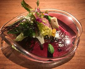 Salad and tempura