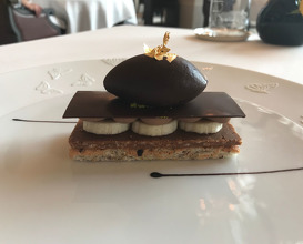 MILLEFEUILLE CHOCOLAT BANANE, SORBET CACAO