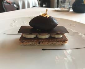 MILLEFEUILLE CHOCOLAT BANANE, SORBET CACAO