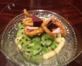 Noodle Potato/Peas/ Board Bean/ Brown Butter/ Caviar