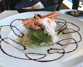 Avocado and shrimps