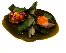 Lobster with green curry