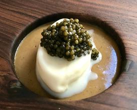 """Barcelo """"Imperial Rum Ice Cream I Oscietra Caviar I Banana Mole"""
