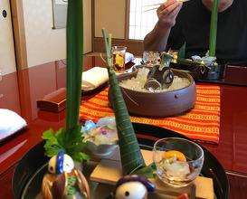 Dinner at the beautiful Ryotei Sagano