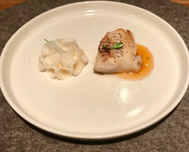 A FISH Cod neck and pickled turnip