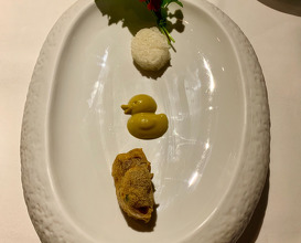 The disappearing duck Curry mousse, Poultry wing, Sticky rice, Haoma urban farm greens