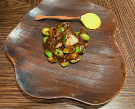 Stinky beans (intcme) - Homemade abalone, mantis shrimp and hoof fermented sauce/stinky beans/sea conch
