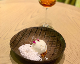 Sour Cream Ice-cream, Lemongrass, Thai Tea Crumble