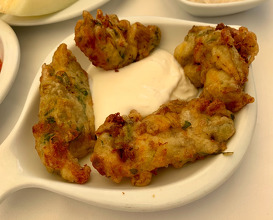 Courgette flower fritters
