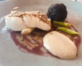 Turbot, Squid, Cep and Hazelnut Butter