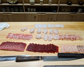 Dinner at sushi AMANE