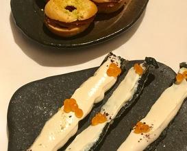 Salmon caviar, cod roe, nori