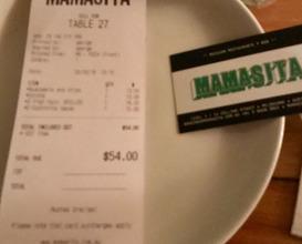 Dinner at Mamasita