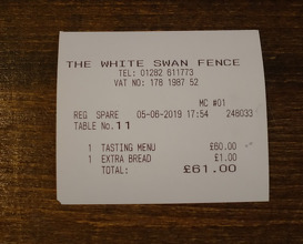 Meal at The White Swan