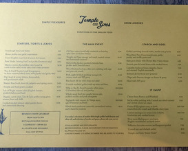 Meal at Temple & Sons