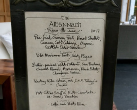 Meal at The Albannach