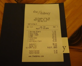 Meal at The Dabney