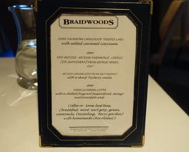 Meal at Braidwoods