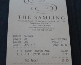 Meal at The Samling