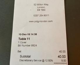 Meal at Pidgin