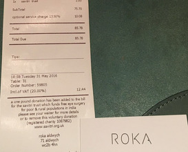 Meal at ROKA