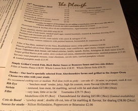 Meal at The Plough