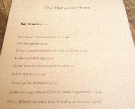 Meal at The Harwood Arms