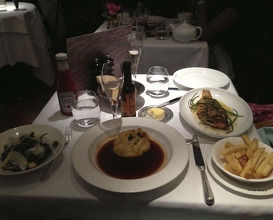 Meal at The Ivy