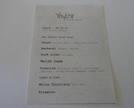 Meal at Ynyshir Restaurant & Rooms