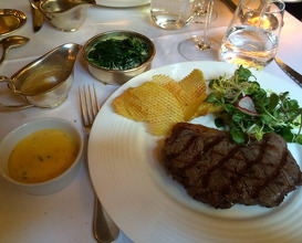 Meal at The Savoy Grill
