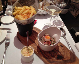 Meal at Brasserie Chavot