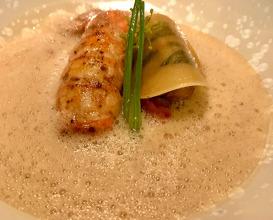 Scottish Langoustine, Sweetbread Fennel Confit, Shellfish Emulsion