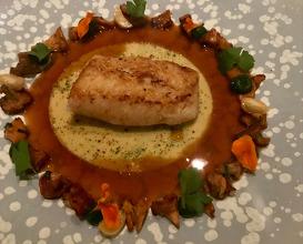 Meunière John Dory, Girolle Mushroom Chickpeas Condiment, Hazelnut