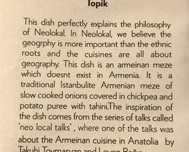 "Fresh Herbs and ""TOPIK"", caramelised onions, tahini lemon sauce"