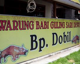 Dinner at Warung Babi Guling Sari Dewi (Dobiel)