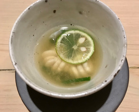 Soup with shirako