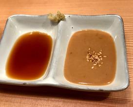 Madai sashimi Soy and sesame sauce