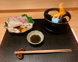 Nodoguro and Matsutake mushroom Shabu-shabu Ponzu vinegar