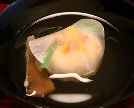 吸物 Soup かに真薯、 Crab dumpling