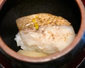 おしのぎ のど黒蒸し寿し Steamed Nodoguro (Rock fish) sushi